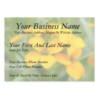 Fragrant Orange Cheiranthus Business Cards