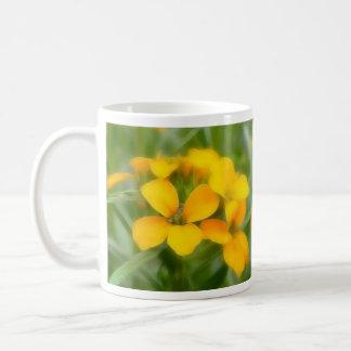 Fragrant Orange Cheiranthus Mugs