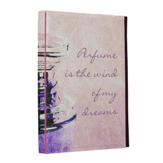 Fragrant romantic vintage perfume bottle with quot iPad folio cases