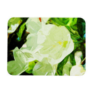 Fragrant Spring Apple Blossoms Abstract Rectangular Photo Magnet