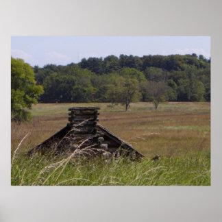 Fragua del valle, cabaña de madera del PA Póster