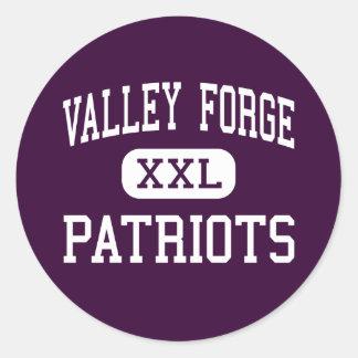 Fragua del valle - patriotas - alta - alturas de pegatina redonda
