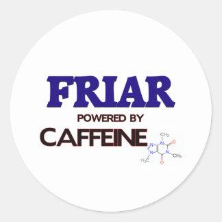 Fraile accionado por el cafeína etiquetas redondas