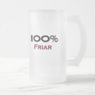 Fraile del 100 por ciento taza cristal mate