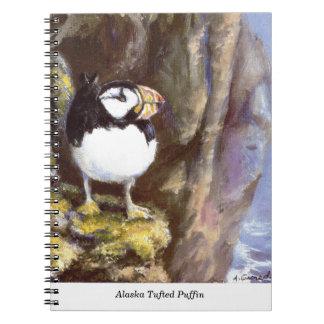 Frailecillo copetudo de Alaska Libro De Apuntes Con Espiral