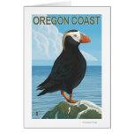 Frailecillo copetudo de la costa de Oregon Tarjeta De Felicitación