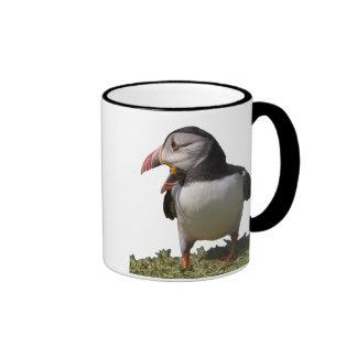 Frailecillo que pide un subtítulo taza de café