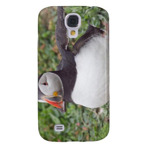 Frailecillo que se sienta en la isla de Skomer Funda Para Galaxy S4