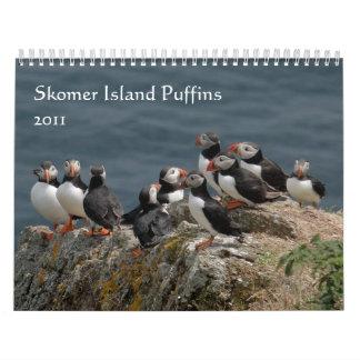 Frailecillos 2011 de la isla de Skomer Calendario