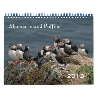 Frailecillos 2013 de la isla de Skomer Calendarios