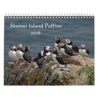 Frailecillos de la isla de Skomer País de Gales Calendarios