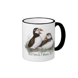 Frailecillos lindos, mejores amigos para siempre,  tazas de café
