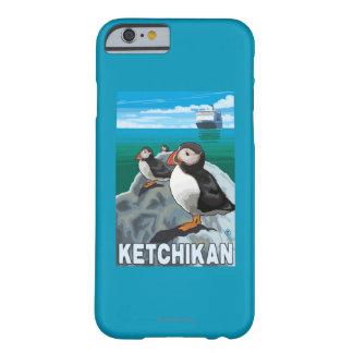 Frailecillos y barco de cruceros - Ketchikan, Funda Para iPhone 6 Barely There