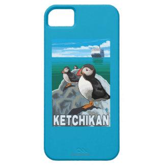 Frailecillos y barco de cruceros - Ketchikan, iPhone 5 Carcasa