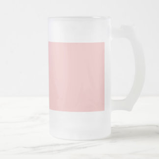 Frais de Bois Rose Pink French Chateau Wedding Frosted Glass Beer Mug