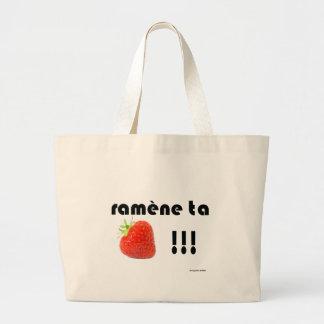 fraise sac en toile