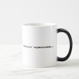 Frakkin' Mornings mug (Left-handed*)