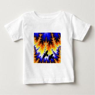 Fraktal almond bread forest Raben wood raven Baby T-Shirt