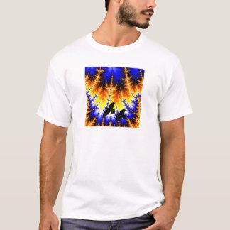 Fraktal almond bread forest Raben wood raven T-Shirt
