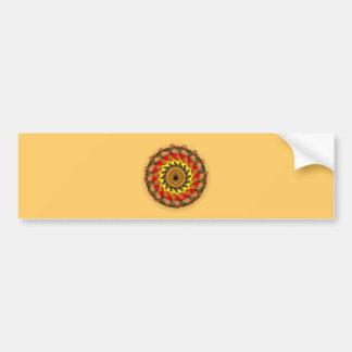 Fraktal circle almond bread circle bumper sticker