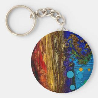 Fram - arte abstracto llavero redondo tipo pin