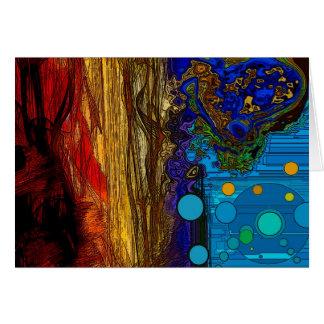 Fram - arte abstracto tarjeta de felicitación