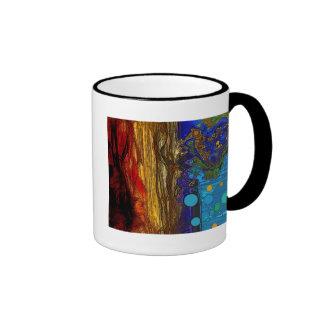 Fram - arte abstracto taza a dos colores
