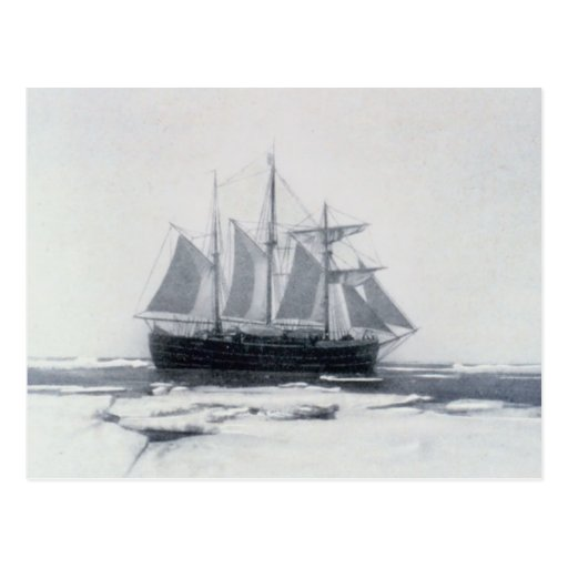 Fram, la nave de Nansen, en hielo polar Postal