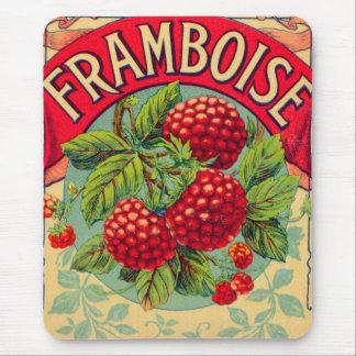 Framboise francés del vintage (frambuesa) alfombrillas de raton