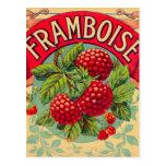 Framboise francés del vintage (frambuesa) postales