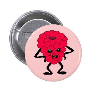 Frambuesa amarga: Mala cuadrilla de la fruta Pin Redondo 5 Cm