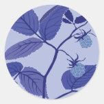 frambuesa azul pegatinas