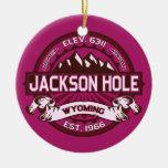 Frambuesa de Jackson Hole Ornamentos De Navidad