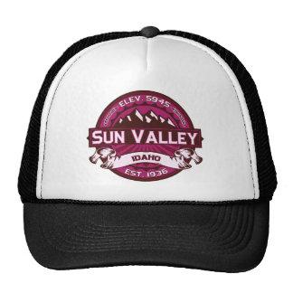Frambuesa de Sun Valley Gorros Bordados