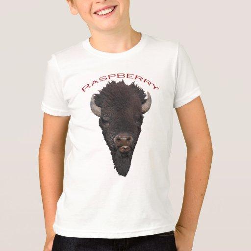 Frambuesa del bisonte playera