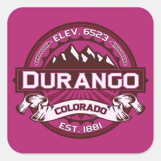 Frambuesa del logotipo de Durango Colcomanias Cuadradases
