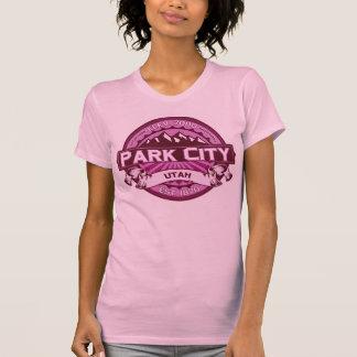 Frambuesa del logotipo del color de Park City Camisetas