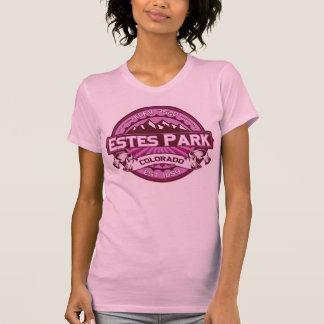 Frambuesa del logotipo del color del parque de camisetas