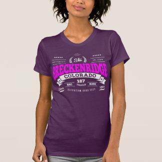 Frambuesa del vintage de Breckenridge Camisetas