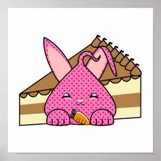Frambuesa Hopdrop y torta Poster