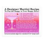 Frambuesa Martini RecipePostcard del chocolate Postales