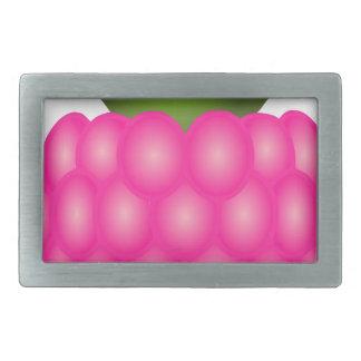 Frambuesa o apenas baya rosada hebilla de cinturon rectangular