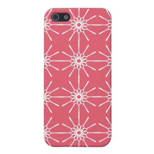 Frambuesa Starburst rosado iPhone 5 Carcasas