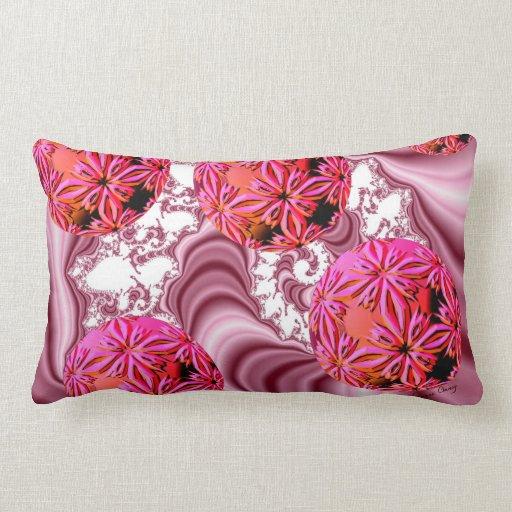 Frambuesa Vision rosado, escamas abstractas de la  Cojines
