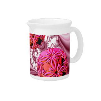 Frambuesa Vision rosado, escamas abstractas de la  Jarron