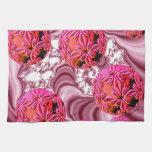 Frambuesa Vision rosado, escamas abstractas de la  Toalla