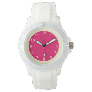 Frambuesa y crema reloj