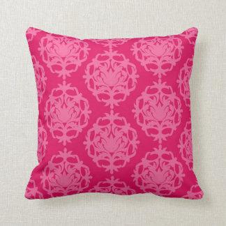 Frambuesa y damasco rosado cojines