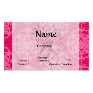 Frambuesa y damasco rosado tarjetas de visita