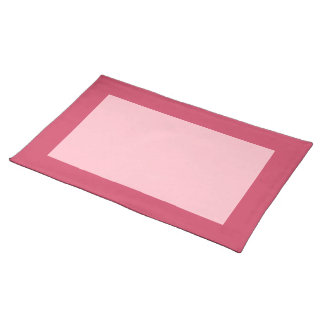 Frambuesa y Placemat rosado Mantel